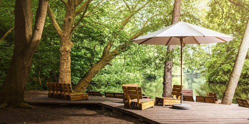 teakwood Sunshade Parasol by Glatz Outdoor Furniture in the Algarve - Quinta do Lago - Vale do Lobo - Algarve - Vilamoura - Almancil - Tavira - Carvoeiro - Loulé- Portugal Status Concept